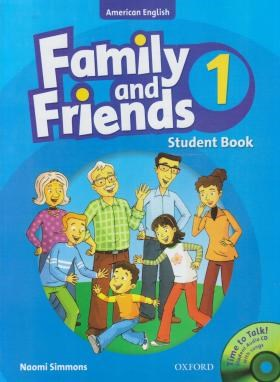 FAMILY AND FRIENDS 1 AMERICAN+CD  SB+WB (رحلی/رهنما)