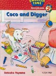 "کتاب READER ENGLISH TIME 2 ""COCO AND DIGGER(آکسفورد)"