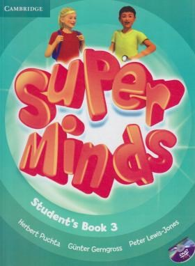 SUPER MINDS 3+CD SB+WB (رحلی/رهنما)