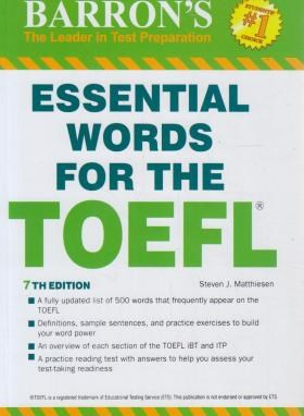 ESSENTIAL WORDS FOR THE TOEFL EDI 7 (سپاهان)