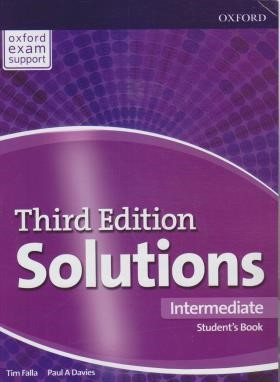 SOLUTIONS INTERMEDIATE  SB+WB  EDI 3 (رحلی/رهنما)